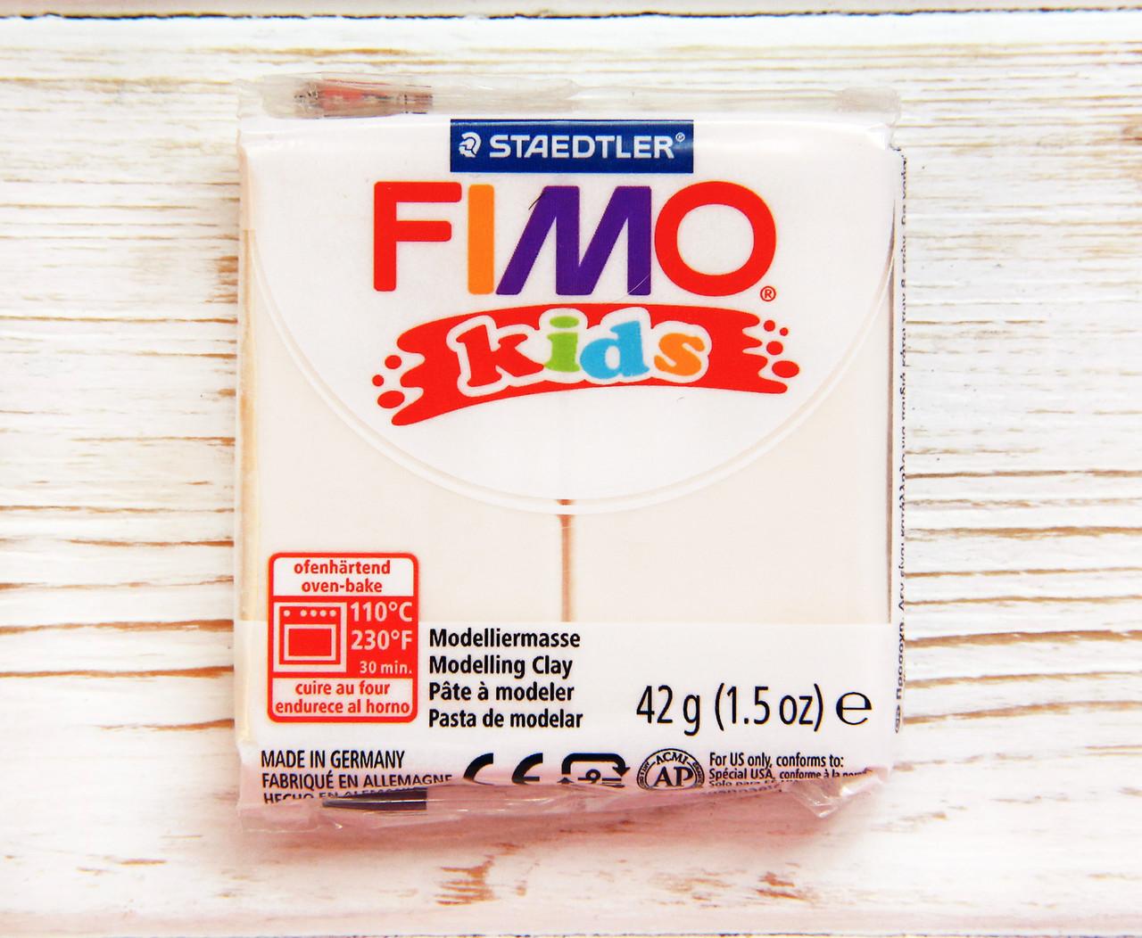 Фимо Кидс полимерная глина пластик,  Fimo Kids, Германия. Белый, 0