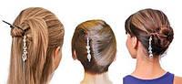 Набор заколок для волос с украшением Twist N Clip