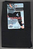 Лосины женские бесшовные эластик на байке Карина, размер XL-5XL, чёрные, C03