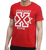Футболка Ястребь Straight edge Червона