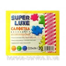SuperLuxe салфетка вискозная (10шт) 25х36