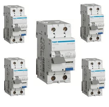 Hager Дифференциальные автоматические выключатели