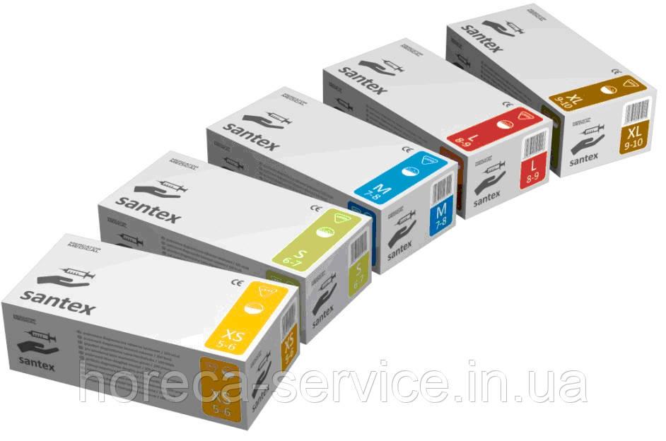 Перчатки Mercator Medical,Латексные,Santex powdered,Нестерильные, Припудренные 50 пар S