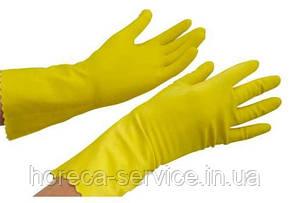 Перчатки PRO-Service Standart Прочные S, M, L латексные желтые, фото 2