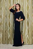 """Облегающее вечернее платье в греческом стиле """"Anasteisha"""" с камнями и разрезом"""