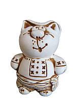 Кот в вышиванке (Статуэтки Мраморная крошка)