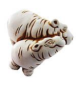 Бегемотики (Статуэтки Мраморная крошка)