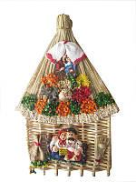 Оберег Домик с рисованой керамикой (Обереги для дома)