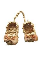 Лапти на шнурке (Из соломы)