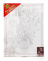 Холст с контуром Полевые цветы (30см*40см) 950586 1 Вересня