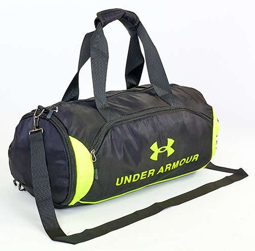 5ef080d09db7 Спортивная сумка для зала UNDER ARMOUR UA-022-3 черно-салатовый, фото