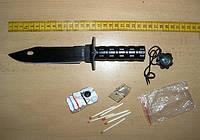 "Нож для выживания с контейнером для Наз ""Rembo""."
