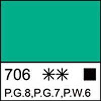 Краска масляная ЛАДОГА кобальт зеленый светлый (А), 46мл ЗХК