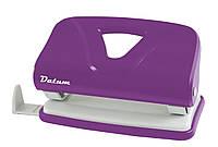 Дырокол 10 листов пластик  D1219-12 фиолетовый ТМ Datum