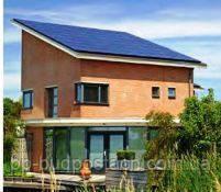 Частный загородный дом с односкатной крышей