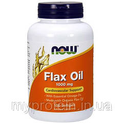 NOW Льняное масло Flax Oil 100 softgels