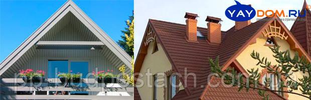 Виды и типы крыш частных загородных домов