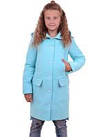 Кашемировое пальто с капюшоном на девочку ДАЯНА 122-146см