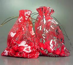 Подарочный мешочек для бус из органзы в ассортименте