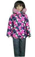 Утепленный комбинезон на девочку 3 - 6 лет