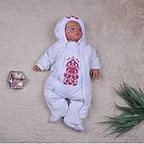 """Зимний набор для новорожденных девочек """"Вензеля"""" с человечком, фото 2"""
