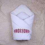 """Зимний набор для новорожденных девочек """"Вензеля"""" с человечком, фото 3"""