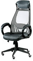 Кресло офисное для руководителя Briz grеy-black, Tilt с регулировкой качания Бесплатная доставка