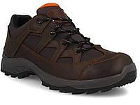 """Мужские кожаные кроссовки """"Литос"""" тёмно-коричневые"""