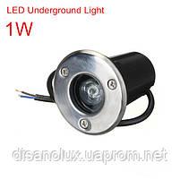 Грунтовый светильник QL-1 LED 1W 4100K 230V IP65 Размер 65мм* 80мм, фото 2