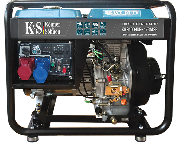 Дизельные генераторы KONNER&SOHNEN KS 9100HDE-1/3 ATSR, фото 2