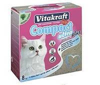 Наполнитель Vitakraft Compact Ultra Plus для кошек бентонитовый, 8 кг