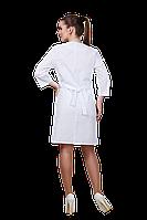 Халат медицинский женский 911 52-170 рубашечная белый-белый