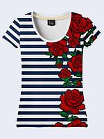 Футболка Вышивка розы