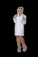 Халат медицинский женский 46 48-170 рубашечная белый-белый