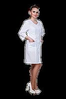 Халат медицинский женский 911 44-170 рубашечная белый-белый