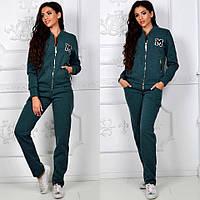 Костюм спортивный , ткань Трехнитка на флисе Бордо, джинсовый серый, зеленый фото реал ля №вип