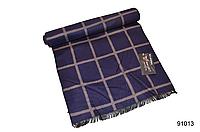 Тёмно-синий мужской кашемировый шарф, фото 1