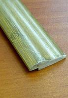Бамбуковый молдинг кромочный, серо-зеленый