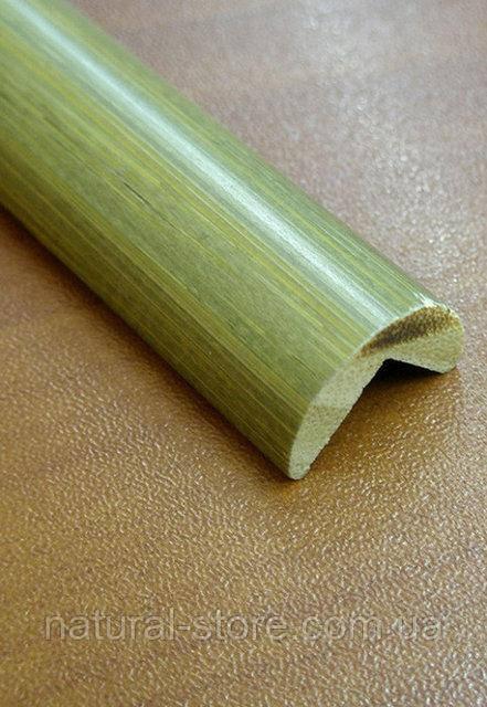 Бамбуковый молдинг угловой наружный, серо-зеленый