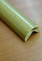 Бамбуковый молдинг угловой наружный, серо-зеленый, фото 1