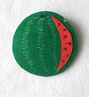 Ягоды из фетра Арбуз для рукоделия