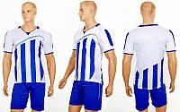Футбольная форма Dinky CO-16003-W (PL, р-р S-2XL, белый, шорты синие)
