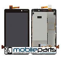 Оригинальный Дисплей (Модуль) + Сенсор (Тачсрин) для Nokia 820 Lumia (С рамкой) (Черный)