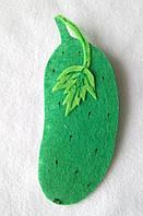 Овощи из фетра Огурец  для рукоделия