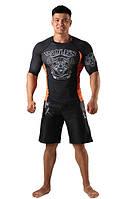 Рашгард и шорты MMA Berserk Wolfs Stamina black, фото 1