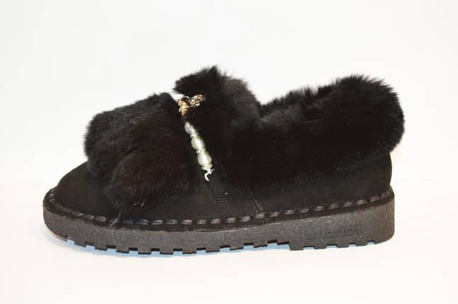 Туфли женские с мехом кролика Veritas 519, фото 2