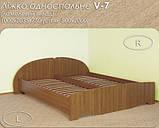 Кровать V-7 односпальная (Континент) 800х2000мм, фото 2