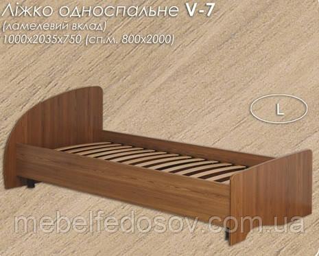 Кровать V-7 односпальная (Континент) 800х2000мм