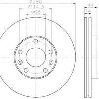 600701 = C3R040  Тормозной диск DACO