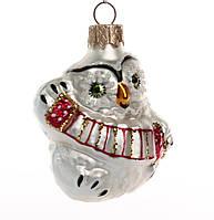 Формовые новогодние игрушки Сова с гармошкой